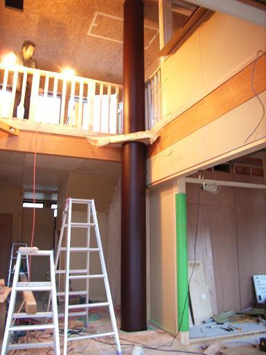 Tさんの家 OMダクト塗装 2007/4/17_a0039934_075611.jpg