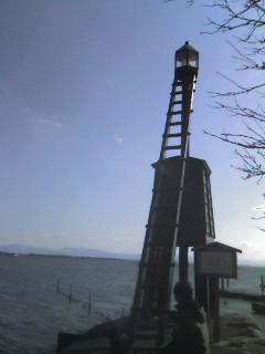 小さな木製灯台@琵琶湖 湖西_d0142770_17101741.jpg