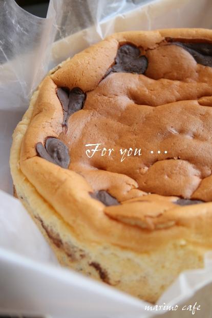 チョコマーブルチーズケーキ* (18センチホール)_d0098954_0425717.jpg