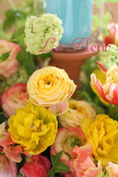 春のテーブルリース_f0127281_21311650.jpg