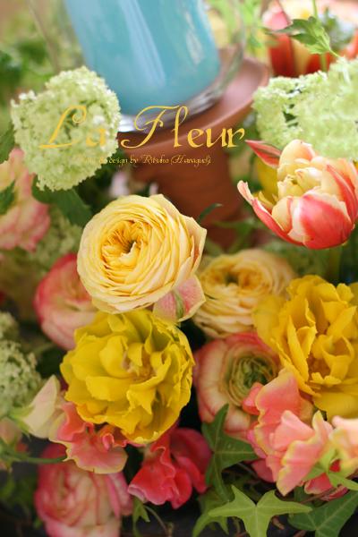 春のテーブルリース_f0127281_21383481.jpg