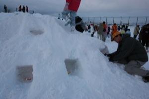 2008年2月15日(金)FUJISANの山開き、新光FUJI雪あかり村の開村_a0062127_1657444.jpg