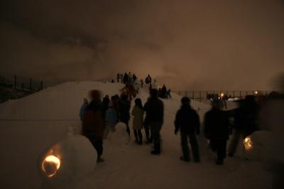 2008年2月15日(金)FUJISANの山開き、新光FUJI雪あかり村の開村_a0062127_17282056.jpg