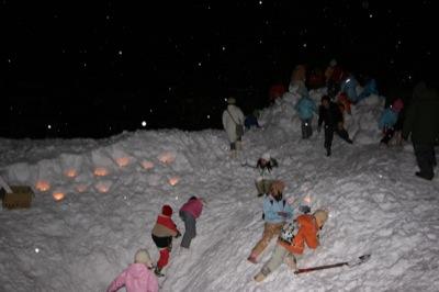 2008年2月15日(金)FUJISANの山開き、新光FUJI雪あかり村の開村_a0062127_17293378.jpg