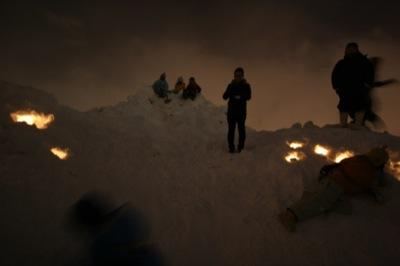 2008年2月15日(金)FUJISANの山開き、新光FUJI雪あかり村の開村_a0062127_1731504.jpg