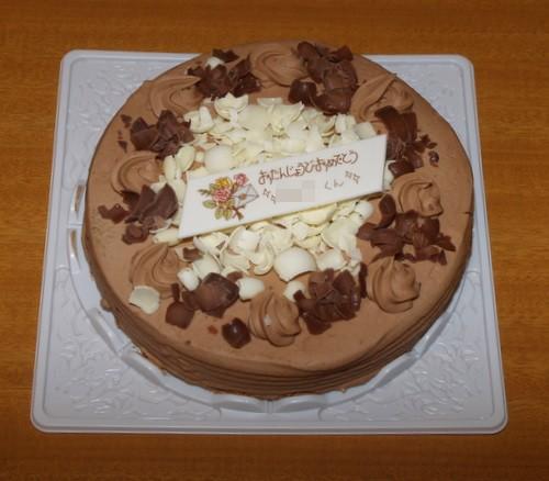 Happy Birthday♪ (生クリームのチョコケーキ)_c0116915_2219153.jpg