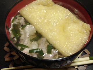 肉ニラきつねうどん_c0025217_17563712.jpg