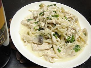 鶏ささみとホワイトセロリのサラダスパゲティ_c0025217_1436490.jpg
