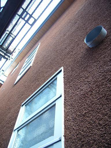 Yさんのいえ 外壁左官工事仕上げ開始 2008/2/21_a0039934_1933883.jpg