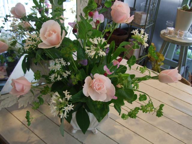 オークリーフ花の教室(エンドウを入れて。)_f0049672_15541892.jpg