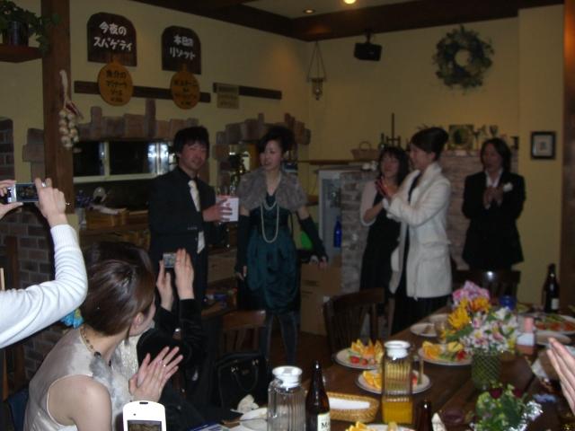 雪の中、結婚式二次会 【Chef's Report】_f0111415_0584351.jpg