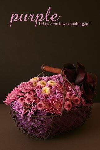 紫いっぱいの花籠_d0124248_16405755.jpg
