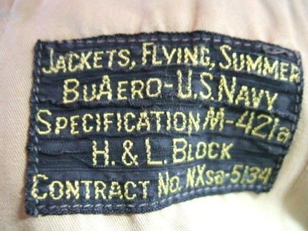 3月1日(土)入荷!WWⅡ 40'S M-421A NAVY SUMMER JKT_c0144020_16112166.jpg