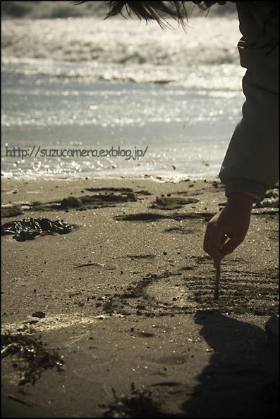 砂に書いた○○?_f0100215_1013762.jpg