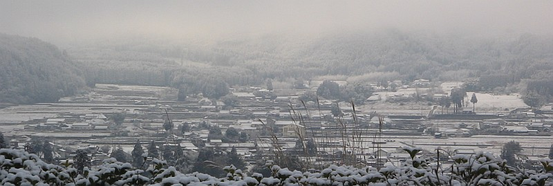 """雪景色の里山・・・玖珠""""春雪墨彩""""_c0001578_21122883.jpg"""