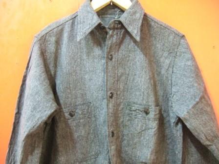 40'S BLACK シャンブレーシャツ _c0144020_202596.jpg