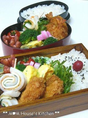 今日のお弁当☆海老カツ♪_c0139375_123615.jpg
