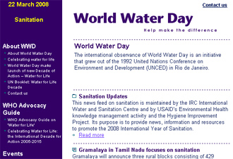 ワールド・ウォーター・デー(World Water Day) 2008_b0007805_1315991.jpg