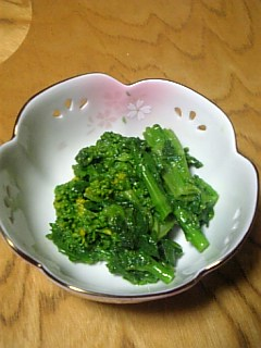 菜の花の酢味噌和え_f0099147_20565066.jpg