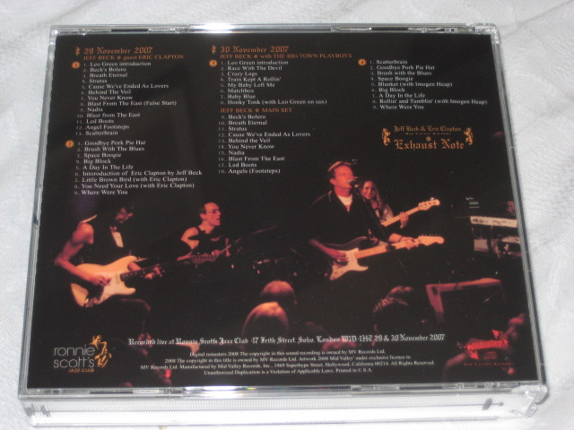 JEFF BECK AND ERIC CLAPTON / EXHAUST NOTE_b0042308_035760.jpg