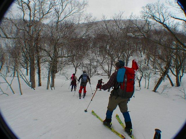 3月16日、目国内岳で山スキー_f0138096_16345097.jpg