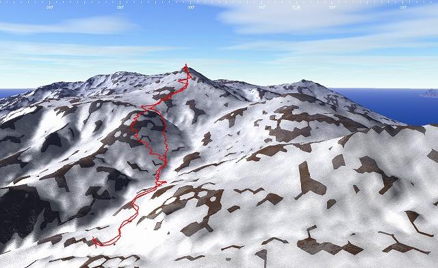 3月16日、目国内岳山スキーその2_f0138096_14192332.jpg