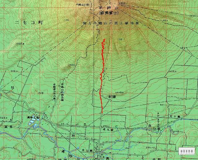 3月17日、ハプニングの羊蹄山山スキー_f0138096_12585982.jpg