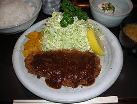 渋谷の奥三河で味噌かつ定食_c0030645_21163152.jpg