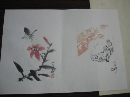 はがき絵&編み物&水彩画教室_c0113948_16282635.jpg