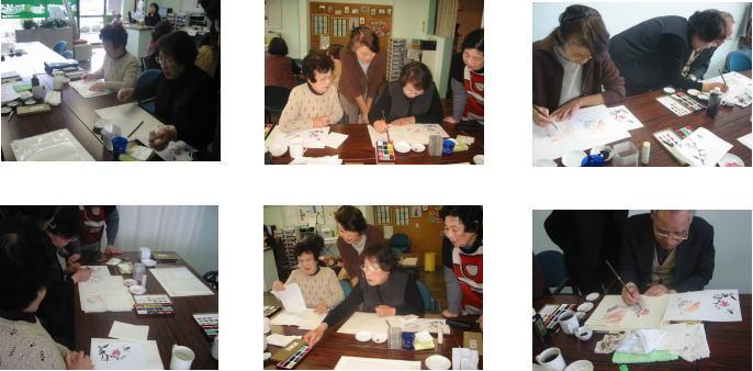 はがき絵&編み物&水彩画教室_c0113948_16295320.jpg