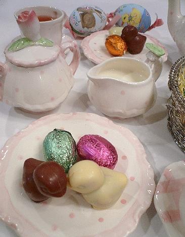 ゴディバのイースターエッグのチョコレートでHoly Saturday 聖土曜日。。。 *。:☆.。† _a0053662_1126309.jpg