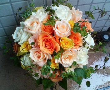 春のオレンジブーケ_c0137266_16213888.jpg