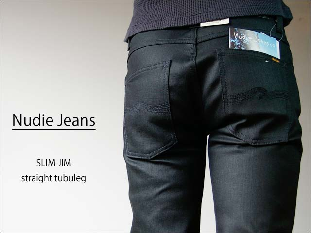 nudie jeans/ヌーディージーンズ slim jim [dry black coated]_f0051306_0571612.jpg