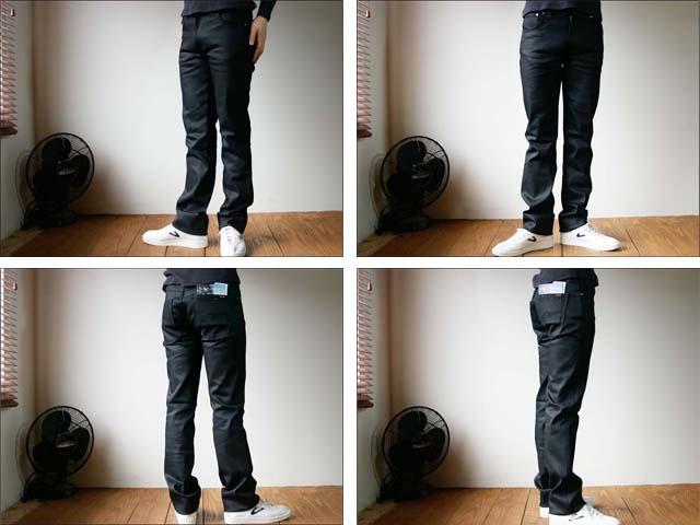 nudie jeans/ヌーディージーンズ slim jim [dry black coated]_f0051306_0573549.jpg