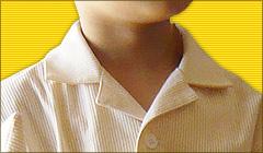 パジャマの襟