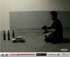 Mario Theme Played with RC Car and Bottles