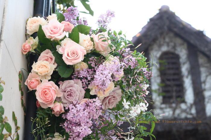 香りで迎えるエントランス装花 シェ松尾松濤レストラン様の装花 _a0042928_23202757.jpg