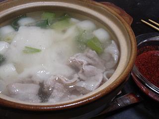 韓国風豚しゃぶ鍋_c0025217_12533346.jpg