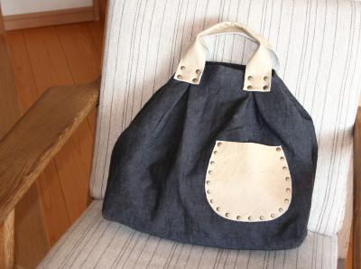 カシメいっぱいのバッグ・その2_a0102486_15192881.jpg