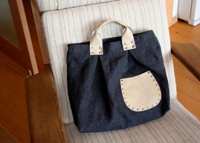 カシメいっぱいのバッグ・その2_a0102486_15233519.jpg