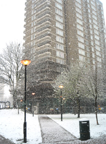 ロンドン、今頃になって雪です_e0030586_23431020.jpg