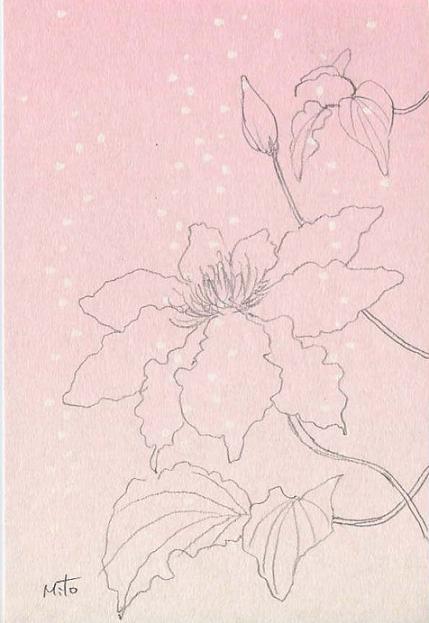 クレマチス~水彩画~_b0089338_0395733.jpg