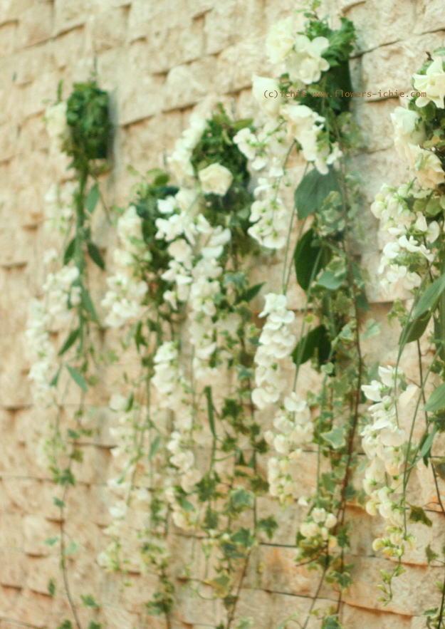 壁面装花 ドアの装花 プティブドン様_a0042928_21484461.jpg