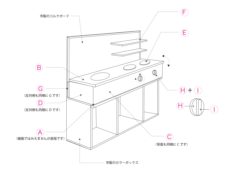DIY】手作りままごとキッチン ...