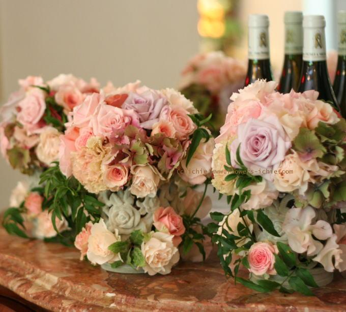 卓上に置く花 ゲストテーブル装花_a0042928_21435546.jpg