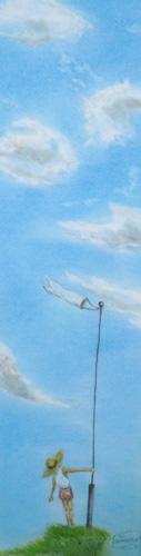 アタリマエ〜神崎勝典イラスト展レポート〜あの頃の空と不思議な像_a0017350_23253967.jpg
