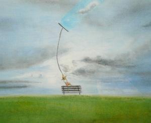 アタリマエ〜神崎勝典イラスト展レポート〜あの頃の空と不思議な像_a0017350_2326475.jpg