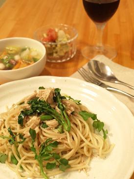 鶏とクレソンのスパゲッテイ・バルサミコ風味_d0128268_21252577.jpg