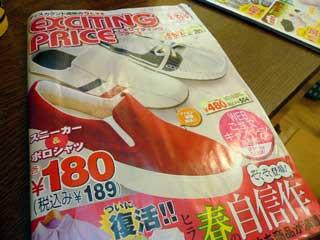 靴のヒラキ 180円運動靴_b0054727_1503141.jpg
