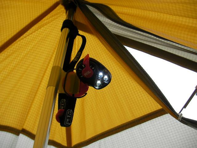 Sierra Designs Origami 2 Ultralight Tent //       ワンポールにライトを付ける_f0113727_6144989.jpg